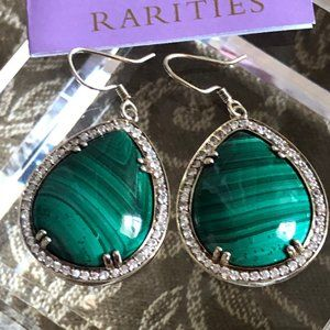 Rarities by Carol Brodie MALACHITE Earrings